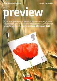 Royal Mail Preview 190 - 90th Anniversary of Armistice Day