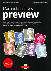 Royal Mail Preview 194 - Machin Definitives