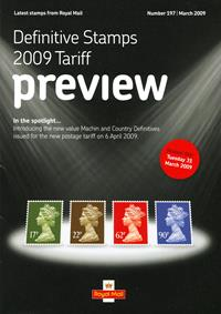 Royal Mail Preview 197 - Definitive Stamps 2009 Tariff