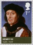The House of Tudor 1st Stamp (2009) Henry VII (1457-1509)