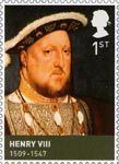 The House of Tudor 1st Stamp (2009) Henry VIII (1509-1547)