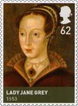 The House of Tudor 62p Stamp (2009) Lady Jane Grey (1553)