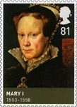 The House of Tudor 81p Stamp (2009) Mary (1553-1558)