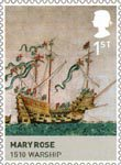The House of Tudor 1st Stamp (2009) Mary Rose