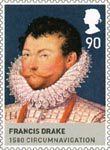 The House of Tudor 81p Stamp (2009) Francis Drake