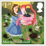 Alice in Wonderland £1.28 Stamp (2015) The Game of Croquet