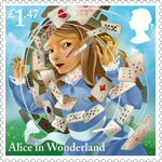 Alice in Wonderland £1.47 Stamp (2015) A Pack of Cards
