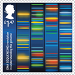 Inventive Britain £1.47 Stamp (2015) DNA Sequencing