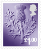 Country Definitives 2015 £1 Stamp (2015) Scotland