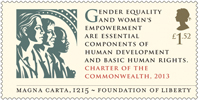 Magna Carta £1.52 Stamp (2015) Charter of the Commonwealth, 2013