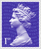 Long to Reign Over Us 1st Stamp (2015) Machin Definitive