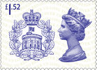 Long to Reign Over Us £1.52 Stamp (2015) The Badge of the House of Windsor