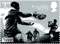 Rugby World Cup £1.00 Stamp (2015) Pass