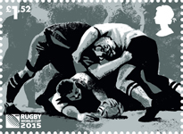 Rugby World Cup £1.52 Stamp (2015) Ruck