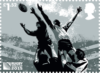 Rugby World Cup £1.52 Stamp (2015) Line-Out