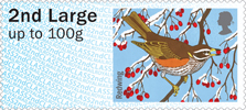 Post & Go : Winter Fur & Feathers 1st Stamp (2015) Redwing