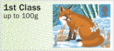 Post & Go : Winter Fur & Feathers 1st Stamp (2015) Red Fox