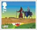 Christmas 2015 2nd Large Stamp (2015) The journey to Bethlehem