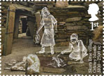 Ancient Britain 1st Stamp (2017) Skara Brea Village, Orkney Islands, Scotland c3100-2500 BC