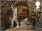 Ancient Britain £1.52 Stamp (2017) Grime's Graves Flint Mines, Norfolk, England c2500 BC