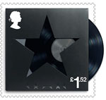 David Bowie £1.52 Stamp (2017) Black Star