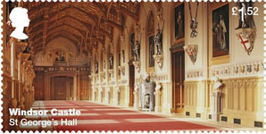 Windsor Castle £1.52 Stamp (2017) St George's Hall