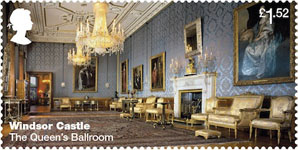 Windsor Castle £1.52 Stamp (2017) The Queen's Ballroom