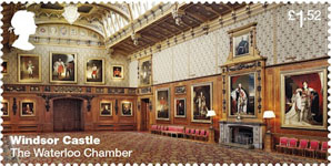 Windsor Castle £1.52 Stamp (2017) The Waterloo Chamber