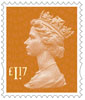New Machin Definitives £1.17 Stamp (2017) Sunset Red