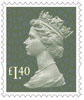 New Machin Definitives £1.40 Stamp (2017) Dark Green Pine