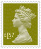 New Machin Definitives £1.57 Stamp (2017) Tarragon Green