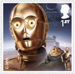 Star Wars - Droids and Aliens 1st Stamp (2017) C-3PO