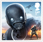 Star Wars - Droids and Aliens 1st Stamp (2017) K-2SO
