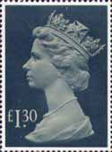 Definitive £1.30 Stamp (1983) drab and deep greenish