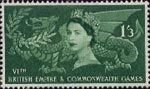 Sixth British Empire and Commonwealth Games, Cardiff 1s3d Stamp (1958) Welsh Dragon