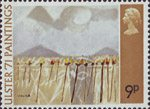 Ulster '71 Paintings 9p Stamp (1971) 'Slieve na brock' (Colin Middleton)