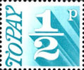 Decimal to Pay 1/2p Stamp (1971) Turquoise Blue