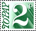 Decimal to Pay 2p Stamp (1971) Myrtle Green