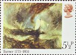 Birth Bicentenary of J.M.W. Turner (painter) 5.5p Stamp (1975) 'Snowstorm - Steamer off a Harbour's Mouth'