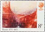 Birth Bicentenary of J.M.W. Turner (painter) 8p Stamp (1975) 'The Aresnal - Venice'