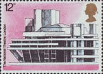 European Architectural Heritage Year 12p Stamp (1975) National Theatre, London