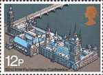 62nd Inter-Parliamentary Union Conference 12p Stamp (1975) Palace of Westminster