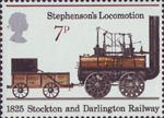 Railways 1825-1975 7p Stamp (1975) Stephenson's Locomotion, 1825