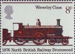 Railways 1825-1975 8p Stamp (1975) Abbotsford, 1876