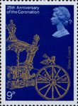 25th Anniversary of Coronation 9p Stamp (1978) State Coach