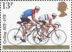 Cycling 13p Stamp (1978) 1978 Road-racers