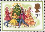 Christmas 1978 7p Stamp (1978) Singing Carols round the Christmas Tree