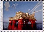 Europa. Engineering Achievements 28p Stamp (1983) Iolair (oilfield emergency support vessel)