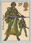 The British Army 31p Stamp (1983) Paratroopers, The Parachute Regiment (1983)