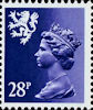 Regional Definitive - Scotland 28p Stamp (1983) Deep Violet Blue